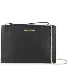 Armani Jeans saffiano effect pouch clutch