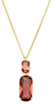 Rivka Friedman Women's Faceted Tourmaline Crystal Double Drop Pendant Necklace
