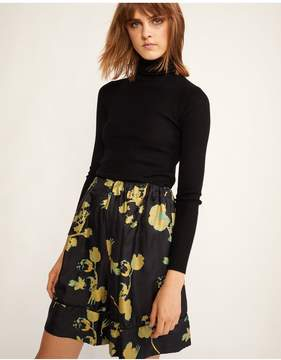 Cynthia Rowley | Wipeout Floral Night Shorts | L | Gold poppy