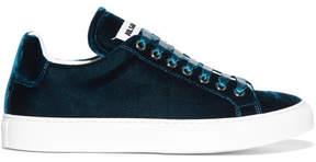 Jil Sander Velvet Sneakers - Navy