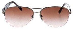 Bvlgari Logo Aviator Sunglasses