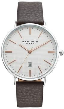 Akribos XXIV Men's Element Leather Watch
