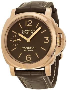 Panerai Luminor Marina Brown Dial 18kt Rose Gold Men's Watch