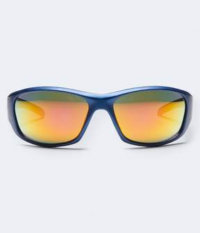 Aeropostale Mirrored Lens Sports-Wrap Sunglasses