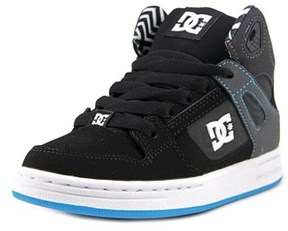 DC Rebound Kb Youth Round Toe Synthetic Black Skate Shoe.