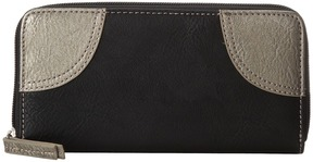 American West Guns and Roses Zip Around Wallet Wallet Handbags