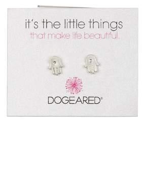 Dogeared Sterling Silver 'It's the Little Things' Hamsa Hand Stud Earrings