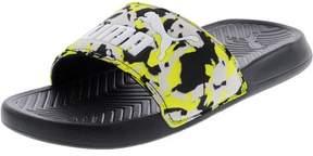 Puma Men's Popcat Camo Black / Safety Yellow Gray Violet Ankle-High Sandal - 5M