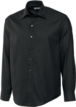 Cutter & Buck Black Epic Easy Care Dobby Button-Up - Men