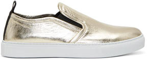 McQ Gold Metallic Chris Slip-On Sneakers