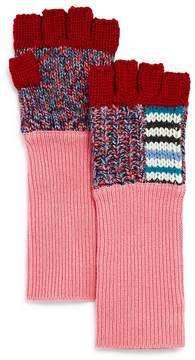 Burberry Patchwork Striped Fingerless Gloves