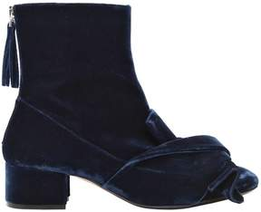 N°21 40mm Ankle Boots W/ Velvet Bow