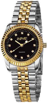 August Steiner Womens Two Tone Strap Watch-As-8046ttg