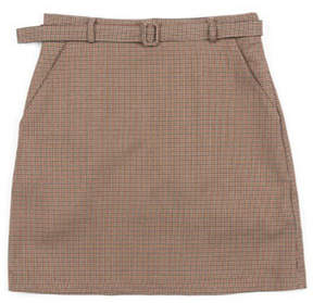 Blank Check belted skirt beige