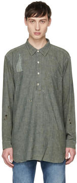 Levi's Clothing Grey Chambray Sunset Popover Shirt