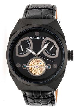 Heritor Oxford Mens Black Strap Watch-Herhr5506