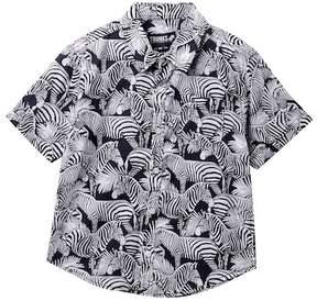 Trunks Surf and Swim CO. Zebra Tropical Shirt (Big Boys)