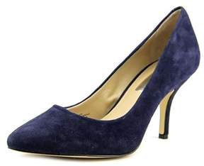 INC International Concepts Zitah Women Pointed Toe Suede Blue Heels.