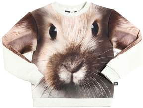 Molo Rabbit Printed Cotton Sweatshirt