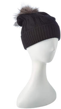 Sofia Cashmere sofiacashmere Sofiacashmere Cashmere Chunky Cable Hat