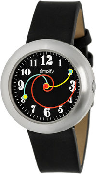 Simplify Unisex The 2700 Black Leather-Band Watch SIM2701