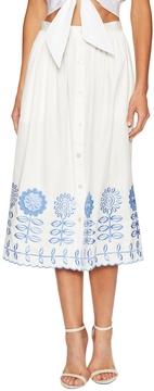 Temperley London Women's Gilda Cotton Midi Skirt