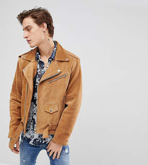 Reclaimed Vintage Inspired Real Suede Biker Jacket