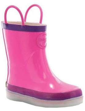 Western Chief Girls' Tech Solid LED Rain Boot