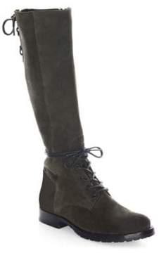 Frye Natalie Knee-High Suede Combat Boots