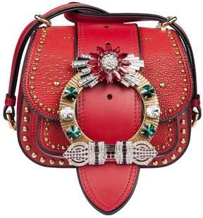 Miu Miu Crystal-embellished Shoulder Bag