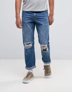 Hero's Heroine Heros Heroine Jeans in Straight Fit With Rips