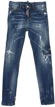 DSQUARED2 Destroyed & Painted Stretch Denim Jeans