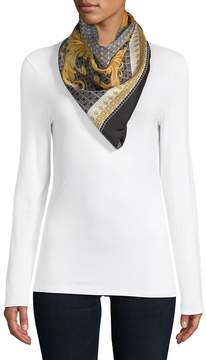 Versace Women's Tile Print Silk Neck Scarf