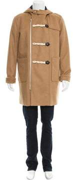 Band Of Outsiders Camel Hair Woven Zip-Up Coat