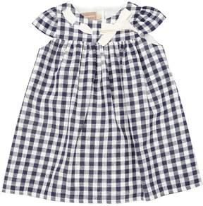 La Stupenderia Gingham Print Cotton Dress