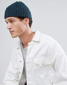 Asos Fisherman Beanie In Teal