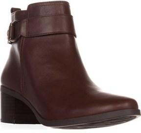 AK Anne Klein Jeannie Comfort Ankle Boots, Dark Cognac.