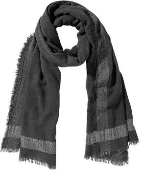 Joe Fresh Women's Metallic Trim Scarf, Charcoal (Size O/S)