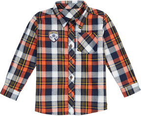Petit Lem Woven Plaid Button-Front Shirt