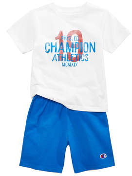 Champion 2-Pc. Cotton T-Shirt & Shorts Set, Little Boys