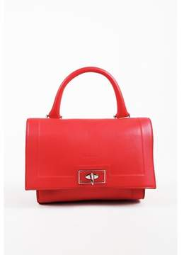 Givenchy Pre-owned Red Pebbled Leather mini Shark Tooth Shoulder Bag.