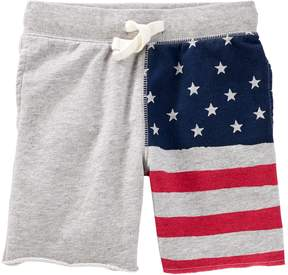 Osh Kosh Oshkosh Bgosh Toddler Boy American Flag Knit Shorts