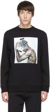 Neil Barrett Black Hybrid Tattoo Sculpture 01 Sweatshirt