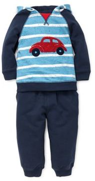 Little Me Baby Boy's Two-Piece Car Cotton Hoodie & Jogger Pants Set