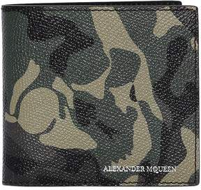 Alexander McQueen Skull Camouflage Coated Leather Wallet