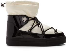 Moncler Ynnaf nylon and patent-leather après-ski boots