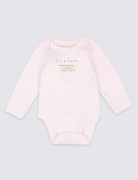 Marks and Spencer I'm a Little Sister Pure Cotton Bodysuit
