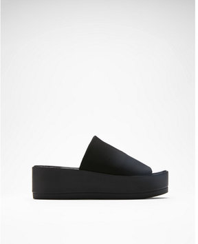 Express stretch platform sandals