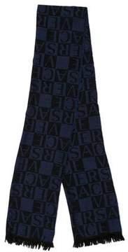 Versace Fine Knit Logo Scarf