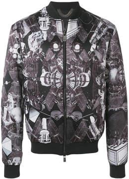 Frankie Morello space Egypt print bomber jacket